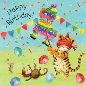 TOT12  Birthday Card For Children Pinata